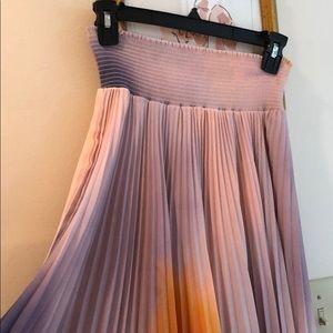 766783495 A.L.C. Skirts | Alc Diller Ruffle Front Striped Midi Skirt | Poshmark